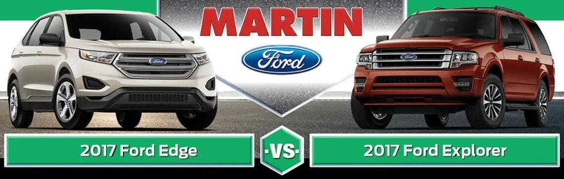 2017 Ford Edge Vs Explorer